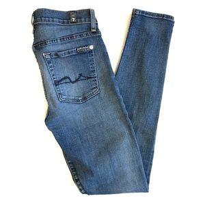 7FAMK The Skinny medium wash jeans 27